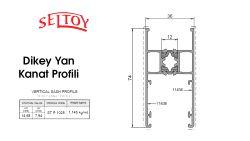 ST-91 Sürme Sistemi-Dikey-Yan-Kanat-Profili